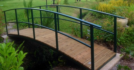 My Standard Bridge Width Is 36 Ins Which Gives Easy Crossing Access With A  Wheelbarrow, But This Berriew Bridge Is Wider To Accommodate A Ride On  Mower.